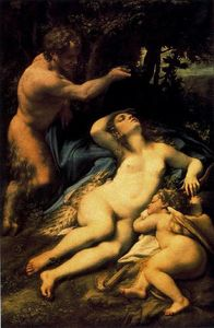 Antonio Allegri Da Correggio - Jupiter and Antiophe