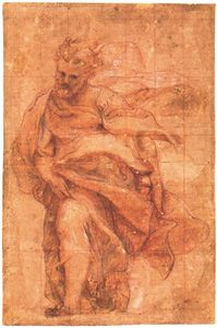 Antonio Allegri Da Correggio - Study for an apostle 3