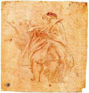 Order Museum Quality Copies | Study for an apostle by Antonio Allegri Da Correggio (1489-1534, Italy) | WahooArt.com
