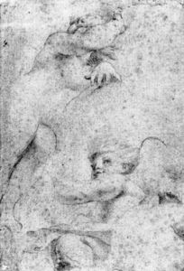 Antonio Allegri Da Correggio - The Virgin and Child with the Infant Baptist