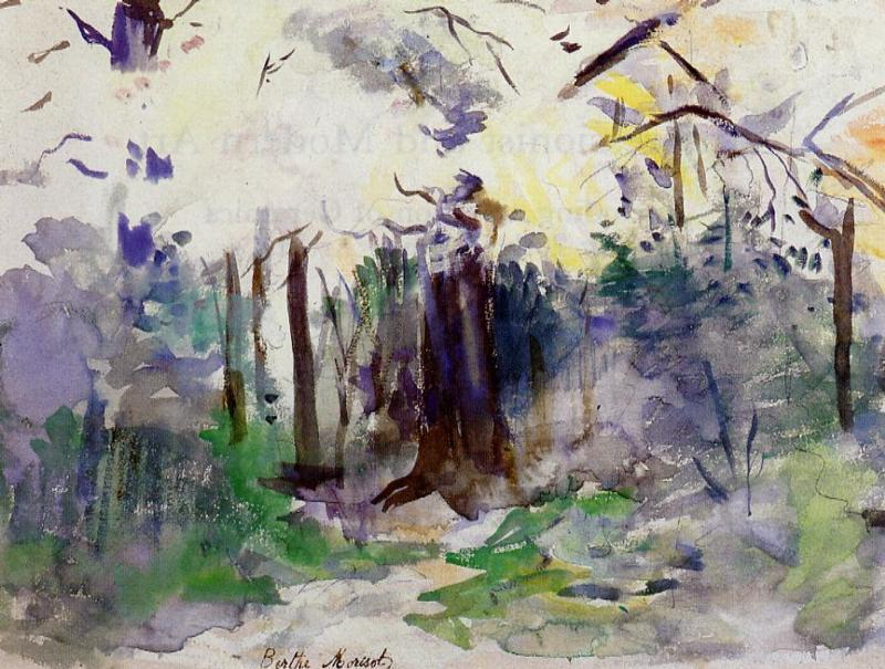 Autumn in the Bois de Boulogne, 1884 by Berthe Morisot (1841-1895, France) | Famous Paintings Reproductions | WahooArt.com