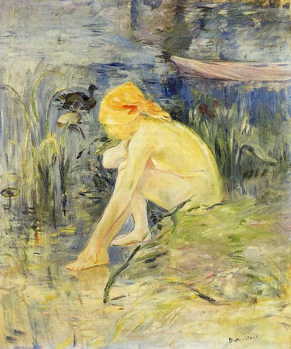 Bather, 1891 by Berthe Morisot (1841-1895, France) | Museum Quality Reproductions | WahooArt.com