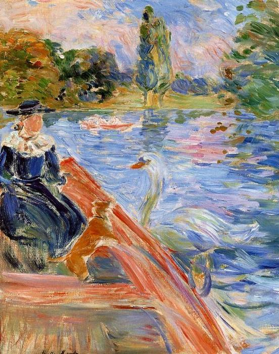 Boating on the Lake, 1892 by Berthe Morisot (1841-1895, France) | Museum Quality Reproductions | WahooArt.com