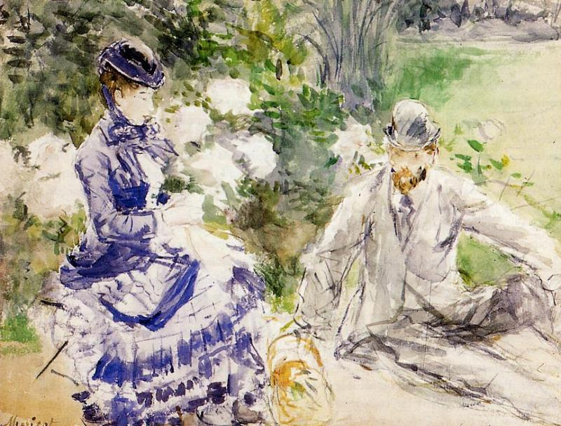 By the Water, 1879 by Berthe Morisot (1841-1895, France) | Painting Copy | WahooArt.com
