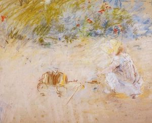 Berthe Morisot - Child Playing in the Garden