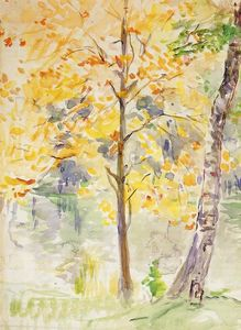 Berthe Morisot - Fall Colors in the Bois de Boulogne