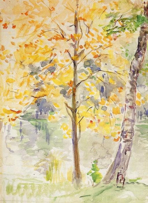Fall Colors in the Bois de Boulogne, 1888 by Berthe Morisot (1841-1895, France) | Famous Paintings Reproductions | WahooArt.com