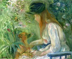 Berthe Morisot - Girl with Dog 1