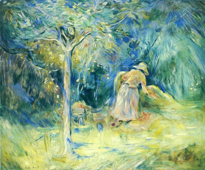 Haying at Mezy, 1891 by Berthe Morisot (1841-1895, France) | Painting Copy | WahooArt.com