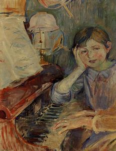 Berthe Morisot - Julie Listening