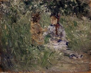 Berthe Morisot - Julie with Pasie in the Garden at Bougival