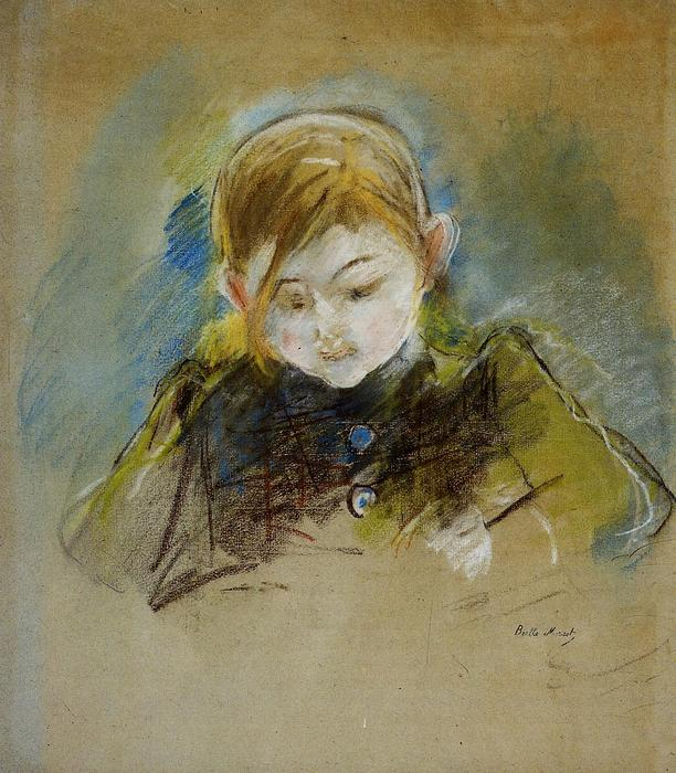 Julie Writing, 1884 by Berthe Morisot (1841-1895, France) | Museum Quality Reproductions | WahooArt.com