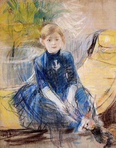 Berthe Morisot - Little Girl in a Blue Dress