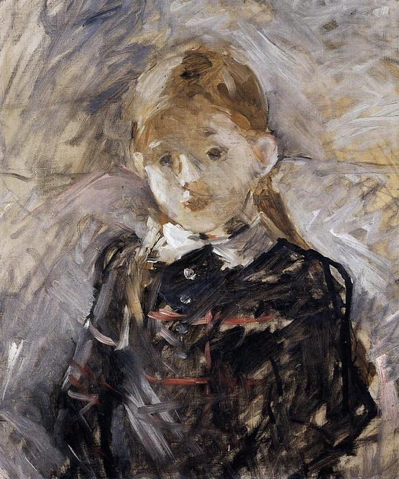Little Girl with Blond Hair, 1883 by Berthe Morisot (1841-1895, France) | Museum Quality Reproductions | WahooArt.com