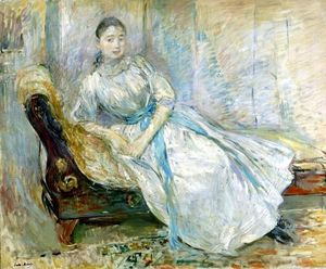 Berthe Morisot - Madame Albine Sermicola in the Studio