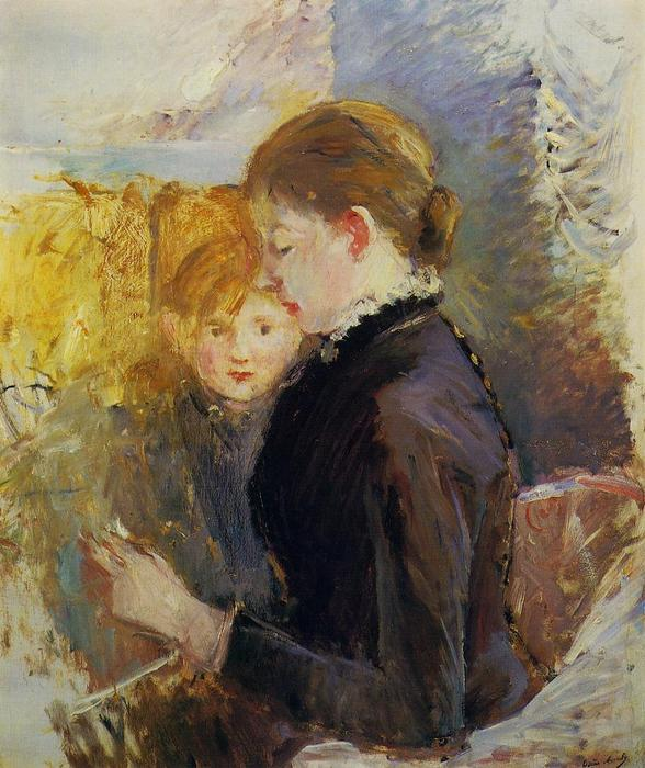 Miss Reynolds, 1884 by Berthe Morisot (1841-1895, France) | Oil Painting | WahooArt.com