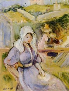 Berthe Morisot - On the Beach at Portrieux