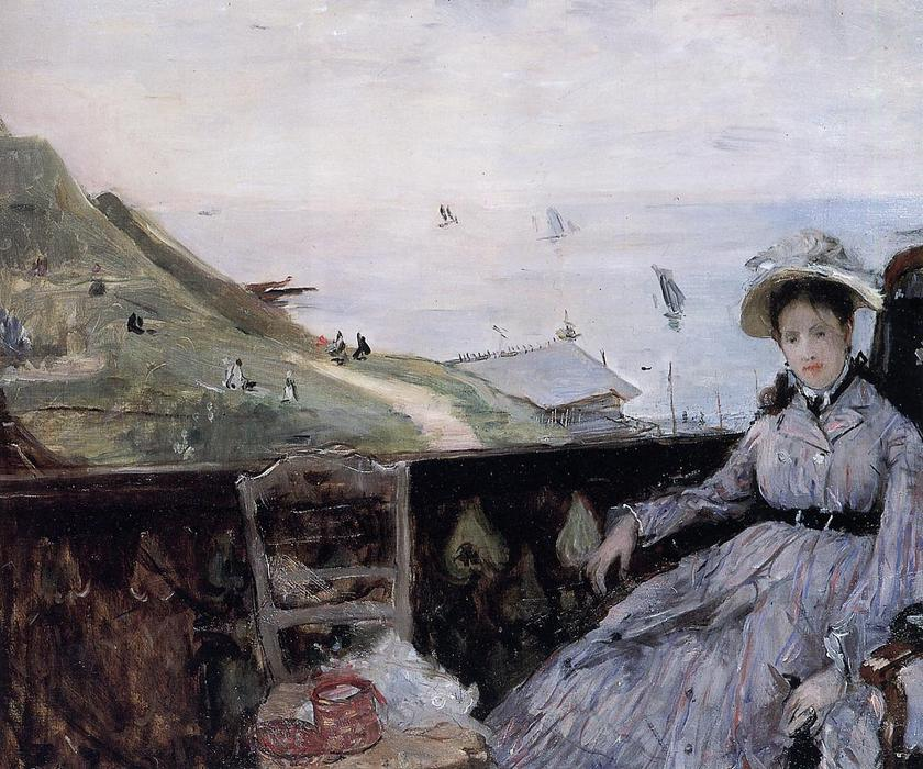 On the Terrace, 1874 by Berthe Morisot (1841-1895, France) | Oil Painting | WahooArt.com