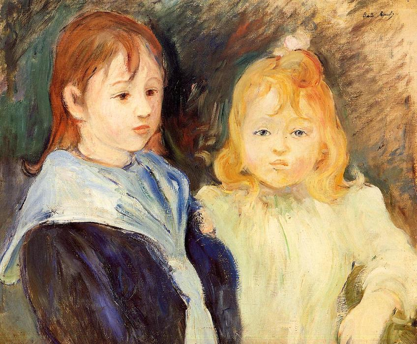 Portrait of Children, 1893 by Berthe Morisot (1841-1895, France) | Museum Quality Reproductions | WahooArt.com
