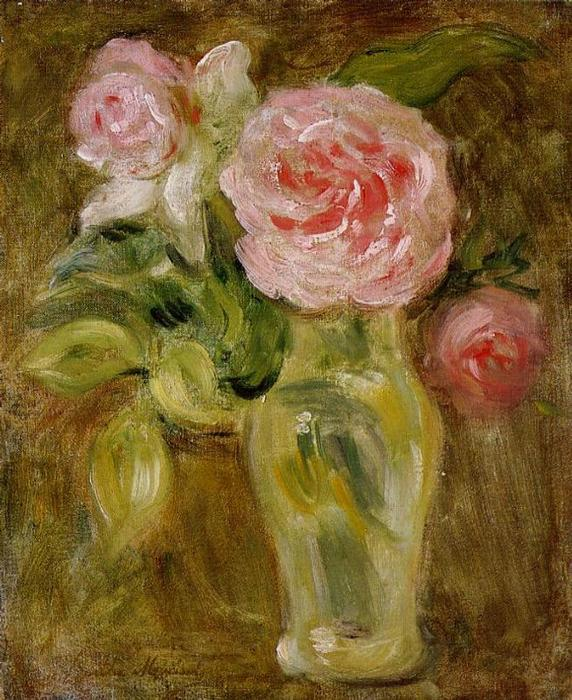 Roses, 1894 by Berthe Morisot (1841-1895, France) | Museum Quality Reproductions | WahooArt.com