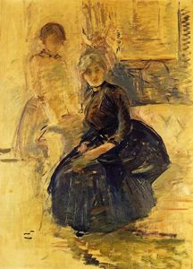 Berthe Morisot - Self-Portrait with Julie (study)
