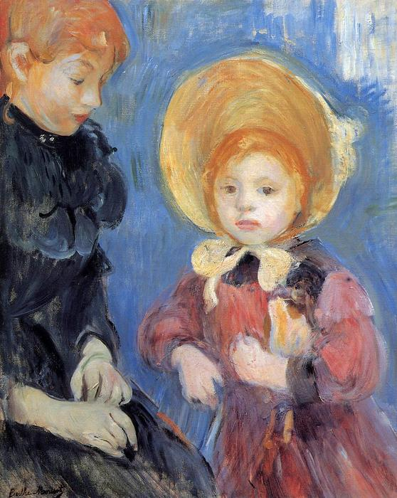 The Black Finger Bandage, 1894 by Berthe Morisot (1841-1895, France) | Painting Copy | WahooArt.com