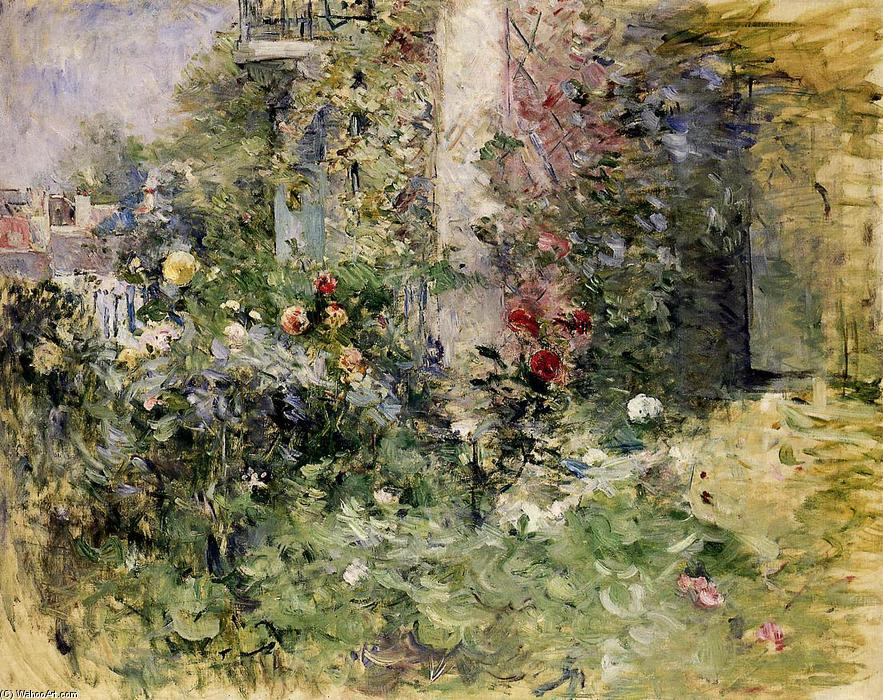 The Garden at Bougival, 1884 by Berthe Morisot (1841-1895, France) | Museum Quality Reproductions | WahooArt.com