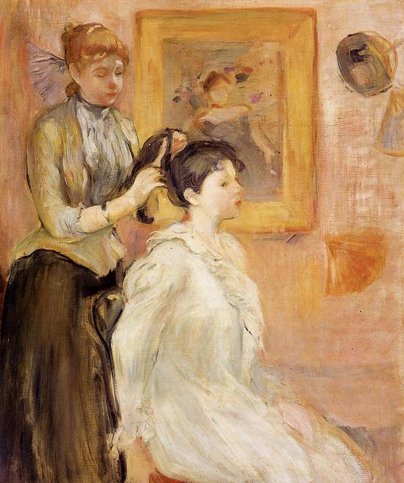 The Hairdresser, 1894 by Berthe Morisot (1841-1895, France) | Oil Painting | WahooArt.com