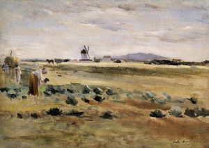 Berthe Morisot - The Little Windmill at Gennevilliers