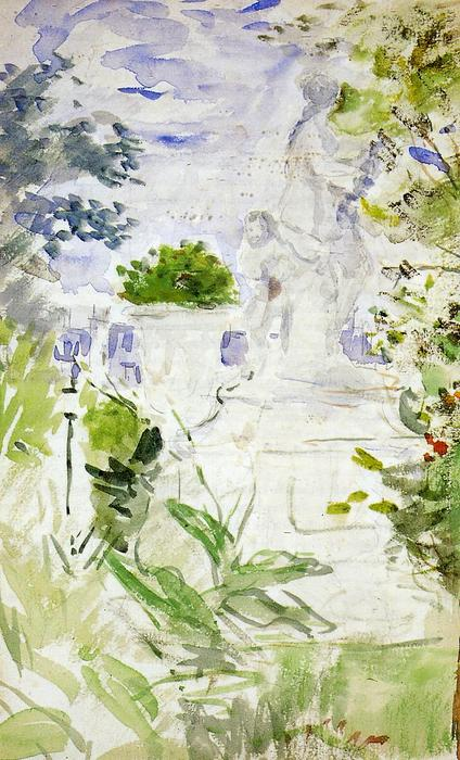 The Tuileries, 1885 by Berthe Morisot (1841-1895, France) | Museum Quality Reproductions | WahooArt.com