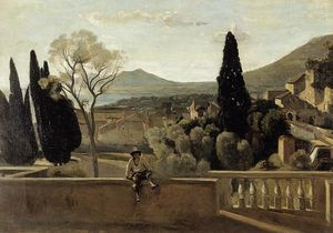 Berthe Morisot - View of Tivoli (after Corot)