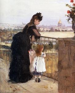 Berthe Morisot - Woman and Child on a Balcony