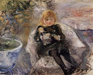 Berthe Morisot - Young Girl with Doll 1