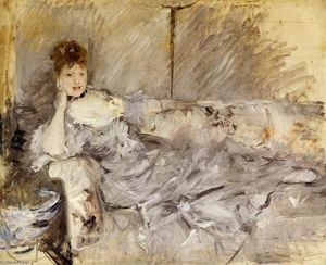 Berthe Morisot - Young Woman in Grey Reclining