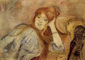Berthe Morisot - Young Woman Leaning on Her Elbow