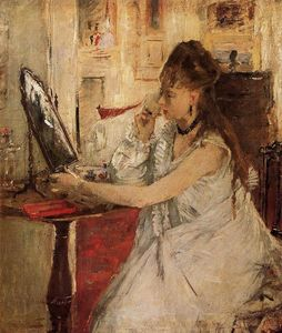 Berthe Morisot - Young Woman Powdering Her Face
