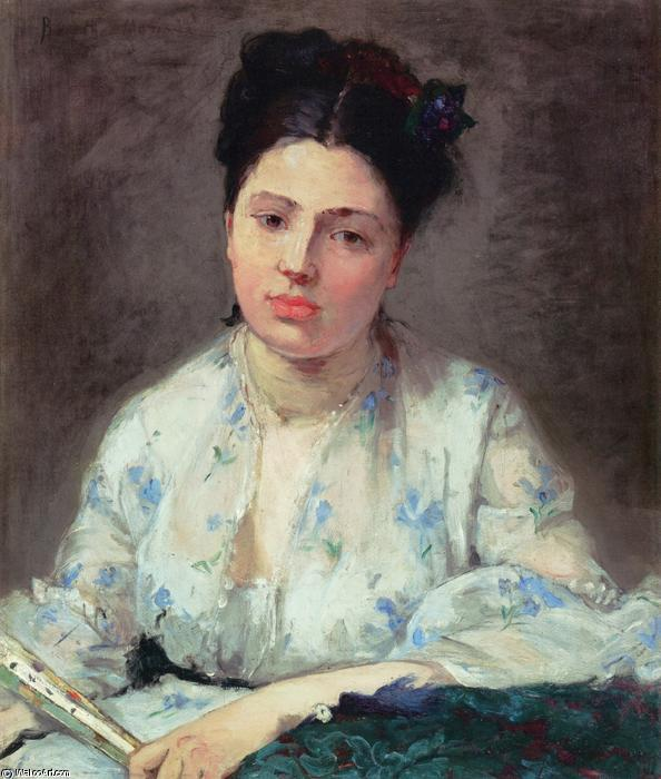 Young Woman, 1871 by Berthe Morisot (1841-1895, France) | Museum Quality Reproductions | WahooArt.com