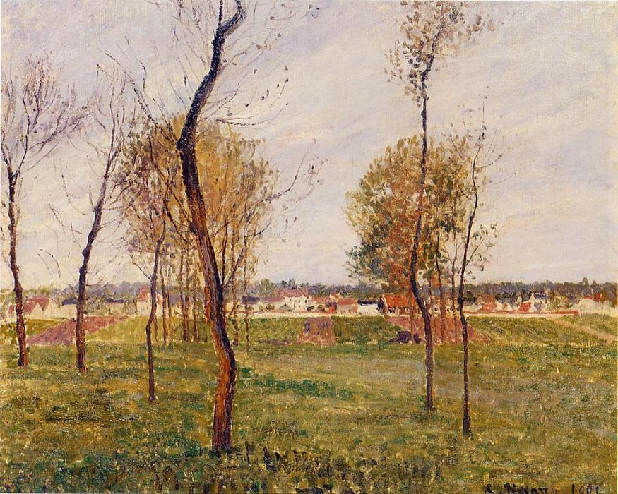 A Meadow in Moret, 1901 by Camille Pissarro (1830-1903, United States) | Museum Quality Reproductions | WahooArt.com