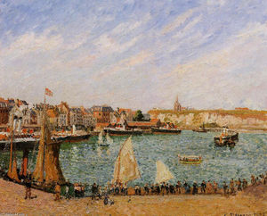 Camille Pissarro - Afternoon, Sun, the Inner Harbor, Dieppe