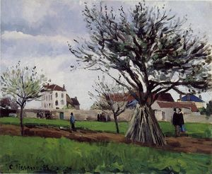 Camille Pissarro - Apple Trees at Pontoise (aka The Home of Pere Gallien)