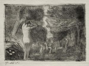 Camille Pissarro - Bather and Geese