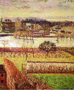 Camille Pissarro - Flood, Twilight Effect, Eragny