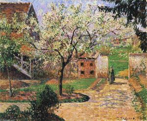 Camille Pissarro - Flowering Plum Tree, Eragny