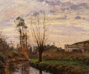Camille Pissarro - Landscape with Small Stream