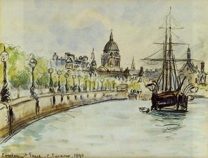 Camille Pissarro - London, St. Paul-s Cathedral