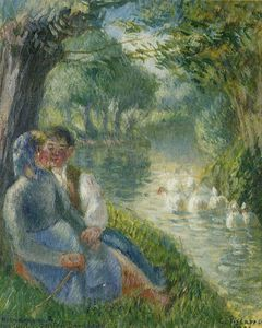 Camille Pissarro - Lovers Seated at the Foot of a Willow Tree