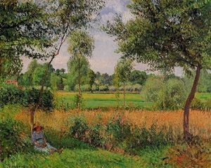 Camille Pissarro - Morning, Sun Effect, Eragny
