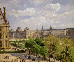 Camille Pissarro - Place du Carrousel, the Tuileries Gardens