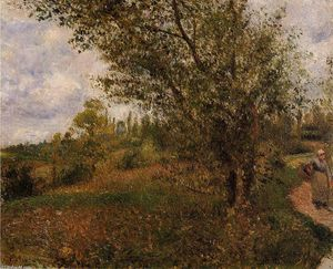 Camille Pissarro - Pontoise Landscape, Through the Fields