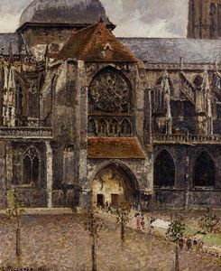 Camille Pissarro - Portal from the Abbey Church of Saint Laurent